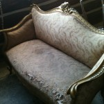 SOFA GOLD GILT LOVESEAT