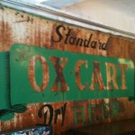 oxcart beer vintage antique sign metal standard dry