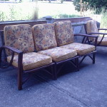 MIDCENTURY BAMBOO VINTAGE SOFA SETEE PATIO FURNITURE