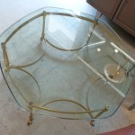 Labarge Hollywood Regency Hexagonal Coffee Table