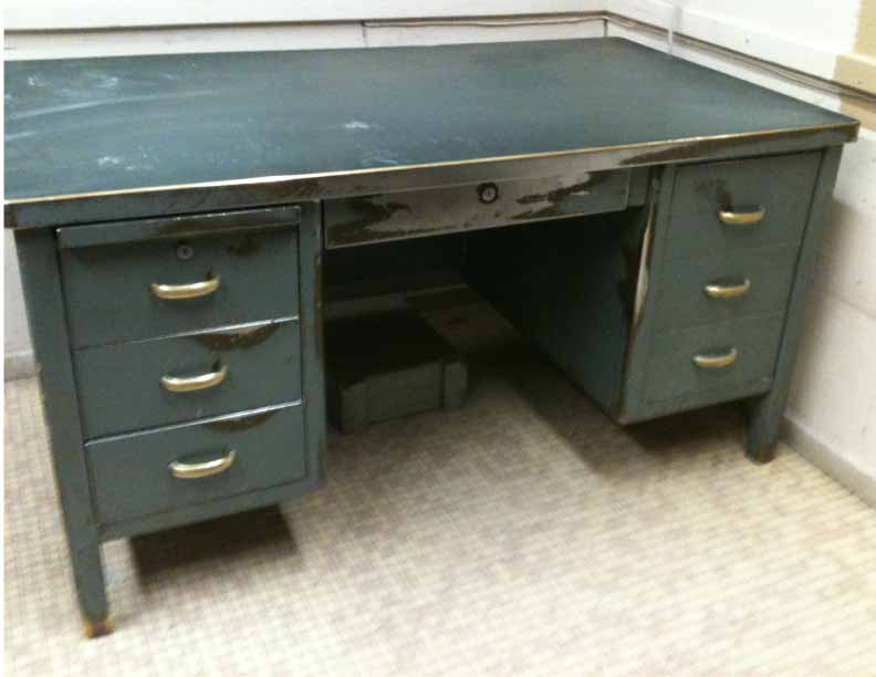 Industrial Steel amp Brass Desk Williams Design