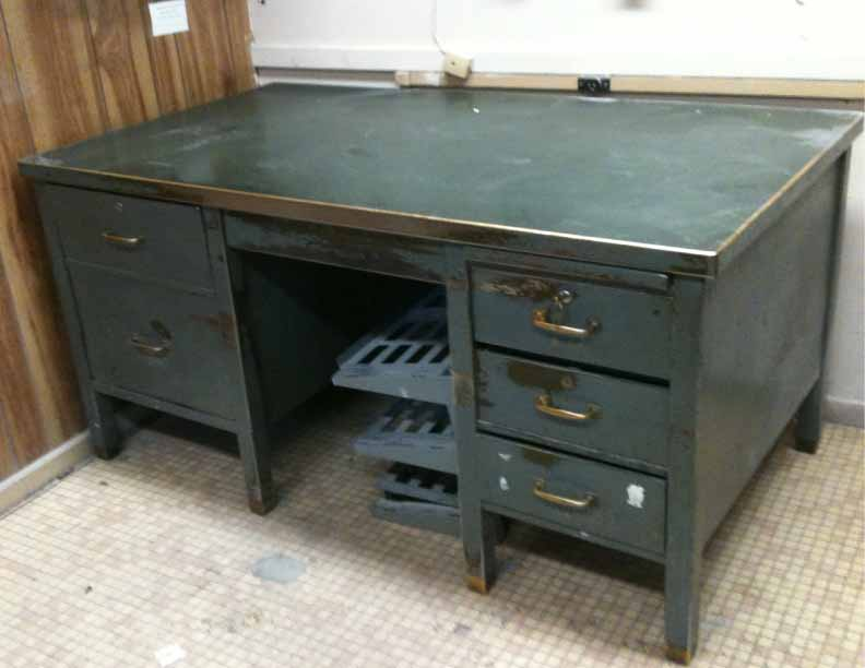 1940s metal office desk | Driving Miss Daisy Prop Research | Pinterest