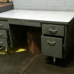 commercial 1950's 1960's metal desk