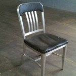 navy chair industrial office 1940s 1950s aluminum chair
