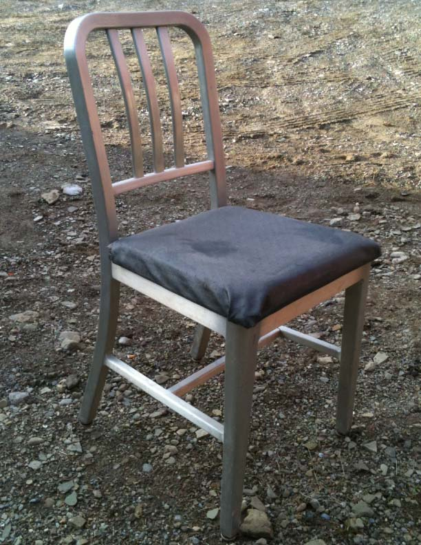 1940s aluminum office chair industrial