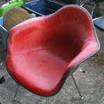 Eames shell chair Herman Miller vinyl covered