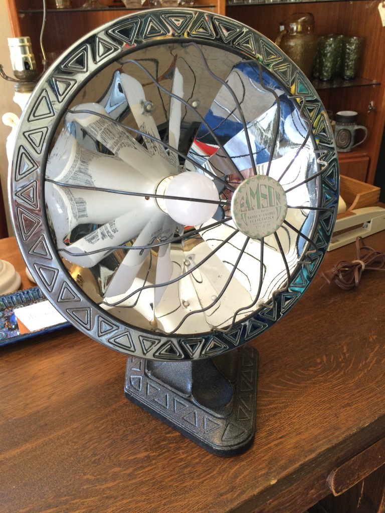 art deco heater lamp repurposed reclaimed