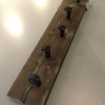 rustic reclaimed coat rack salvage material recycle railway spike