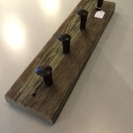 rustic coat rack reclaimed salvage material railway
