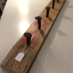 rustick reclaimed coat rack salvage material recycle railway