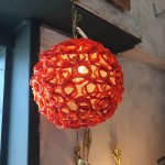 swag lucite spaghetti ceiling light