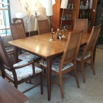 mid century modern austrailian pecan wood table danish teak design
