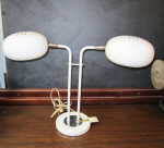 mid-century modern desk lamp 2 headed white mad men