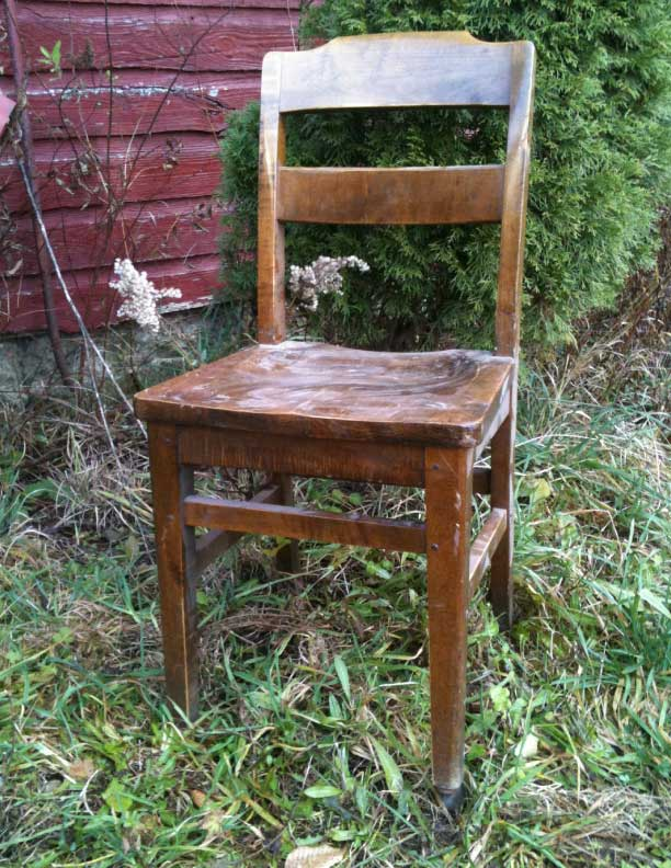 Wood 1940's chair antique library