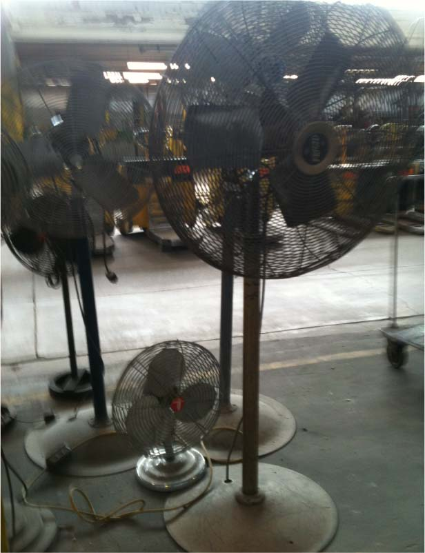 vintage and antique fans