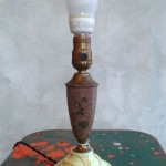 SLAG GLASS BOUDOIR LAMP