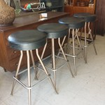 set of 5 bar stools mid century modern atomic 1960's