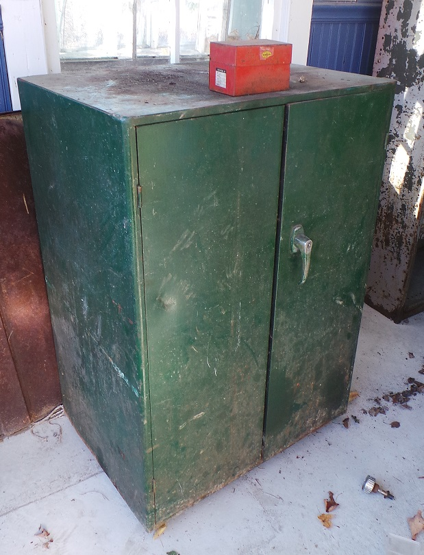 Heavy Steel Green Cabinet