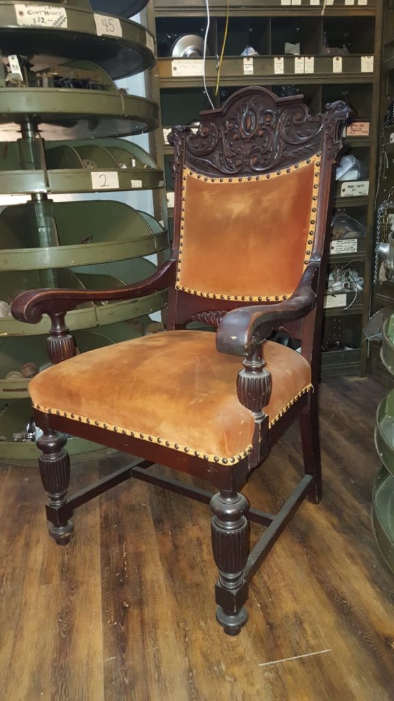 antique king chair victorian carved walnut