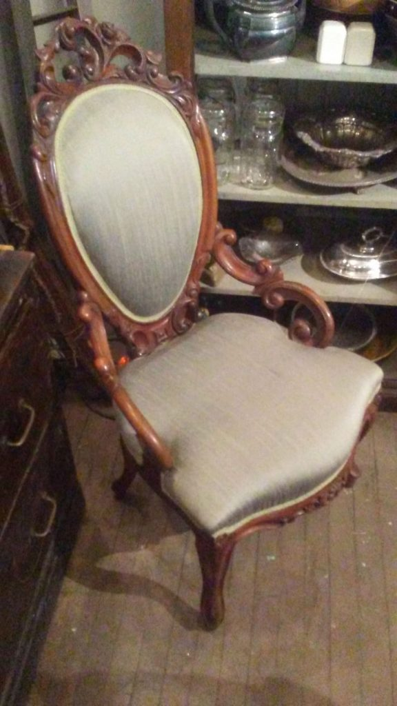 victorian armchair accent antique carved